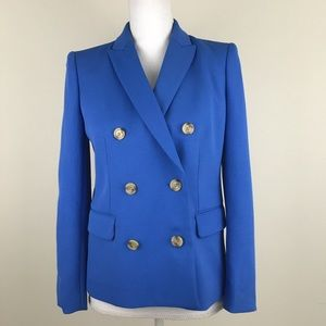 J Crew Two Button Double Breasted Blazer Jacket 4P